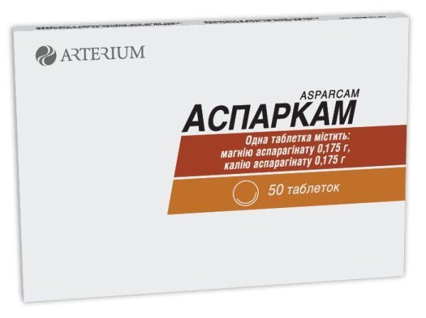 АСПАРКАМ таблетки инструкция по применению
