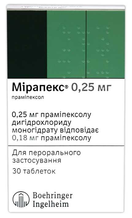 МИРАПЕКС инструкция по применению
