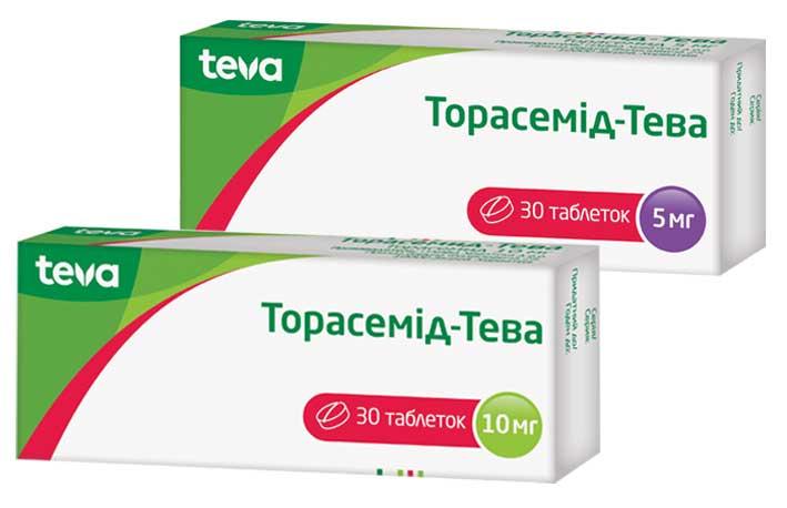 Торасемид-Тева инструкция по применению