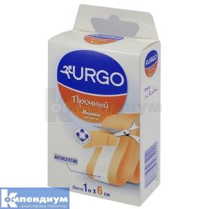 Лейкопластырь Урго прочный с антисептиком