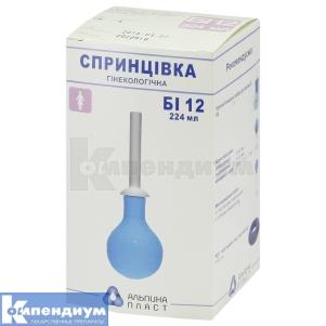 Спринцовка пластизольная поливинилхлоридная СПП-альпина пласт инструкция по применению